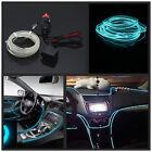 Car 6.5ft Panel Gap Neon Lamp Strip Atmosphere Interior Trim Ice Blue Cold light