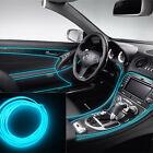 6.5Ft Ice Blue Cold light Neon Lamp Strip EL Wire Car Interior Atmosphere Decor