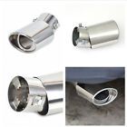 Universal Round Bend Car Exhaust Muffler Tail Pipe Tip Chrome Stainless Steel