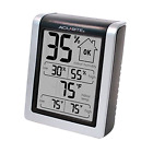 Digital Thermometer In/Outdoor Station Hygrometer Humidity Monitor Weather Meter