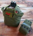 Gold Prospector's Aluminum Water Canteen and Canteen Pouch with Minelab Logo