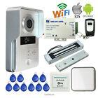 New Metal Wifi Video Intercom Door phone Doorbell + Magnetic Lock Home Security