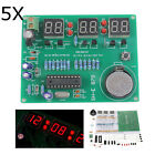 New 5Pcs DIY 6 Digital LED Electronic Clock Kit 9V-12V AT89C2051