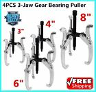 "4-pc Three Jaw Gear Pullers 3"" 4"" 6"" 8"" for Removes Gears, Pulleys, Flywheels BT"
