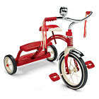 Radio Flyer Classic Red Dual Deck Tricycle Kids Bike Riding Toys Outdoor Fun NEW