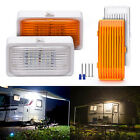 2pieces 12V LED RV Marine Porch Light Clear Amber Lens w/ ON/OFF Switch 280 Lum