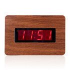 Kwanwa Digital Wall Clock Battery Operated Only with Large 1.4'' Red LED Number