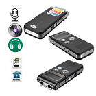 650Hr 8GB Digital Audio Voice Recorder Rechargeable Dictaphone Telephone MP3 Pla