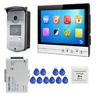 """9"""" UI Video Door Phone Intercom Recording System + RFID Doorbell Camera + 8G TF"""