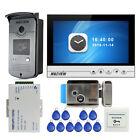 "9"" UI Video Door Phone Intercom Recording System Doorbell Camera + Electric Lock"