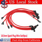 10.5MM Electronic Ignition HEI Spark Plug Wire Set For Chevy SBC BBC 350 383 BP