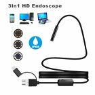 3in1 USB / TYPE-C Snake Endoscope Inspection Camera 6/8 LED IP67 ANDROID PC XP