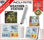 Digital Home Weather Forecast Station Temperature Jumbo Display & Atomic Clock