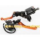 "7/8"" Brake Master Cylinder Reservoir levers set For KTM 300XC/XC-W/EXC 2006-2012"