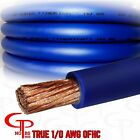 50 ft TRUE AWG 1/0 Gauge OFHC Power Wire BLUE Ground Cable GP Car Audio USA