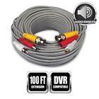 100 Feet BNC Video Power CCTV Surveillance Camera Extension Cable HD Cord DVR TV