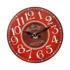 "HDC International 05-0082 Wall Clock Red 13"" Round"