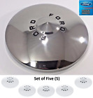 1949-1950 Ford Car Stainless Steel Hubcaps Set of 5 Shoe Box Deluxe Spare