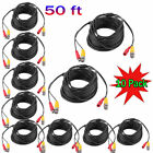 10Pack 50ft Black BNC Video Power Cable DVR CCTV CCD Security Camera Wire BP