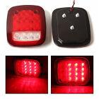 2X Red & white Truck Trailer LED Stop Turn Tail Light For Jeep Wrangler JK TJ