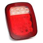 Red & white Truck Trailer LED Stop Turn Tail Light For Jeep Wrangler JK TJ CJ YJ