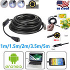 5.5mm Android Endoscope Waterproof Snake Borescope USB Inspection Camera 6 LED