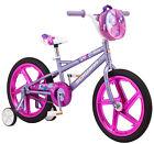 "18 Outdoor Shine Kids Girl's Purple Bike with Training Wheels Fun Child Bicycle"""