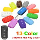 For VW Golf Passat Polo Scirocco Remote Key Fob Silicone Case Shell Cover 3 BTN