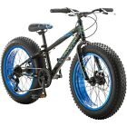 Boy's Mongoose 20 inch Pug Fat Tire Bike All Terrain Dual Disc Brakes 7 Speed
