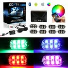 18 Color Car Truck Underglow Neon LED Rock Light LED Pod APP Remote Control-Qty8