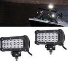 2PCS DC12-30V Black Marine LED light 36w LED Boat Lights T-Top Light (SPOT BEAM)