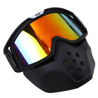 Matte Black Motocross MX Helmet UV Wind Protective Face Mask Goggles Scooter US