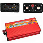 4000W Power Inverter Car Converter Charger DC 12V To 220V AC USB 8000W Max Cable