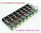 5A Four Wire Battery Pack Test Stand Holder 8 Position for 26650 18650 AA AAA