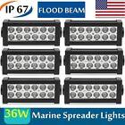 6pcs Marine Spreader Lights LED Light Deck/Mast lights for boat 36W 12v-30v DC B