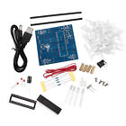 New 4*4*4 3D LED Light Squared Blue Red Ray LED Cube DIY PCB Board Kit Set HL