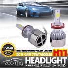 1 Pair H8 H9 H11 LED Headlights Foglight Kits led lamp 72W 7600LM COB Beam Bulbs