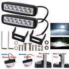 2pcs Heavy Duty 18W CREE LED Single Row Work Light Bar Spot Offroad Driving Lamp