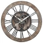 Rustic Gears Wall Clock in Natural Wood