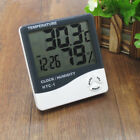 Digital LCD Display Indoor Thermometer Hygrometer Gauge Clock