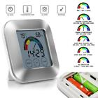 Indoor Thermometer Humidity Monitor Touchscreen Backlight Timer Digital Display