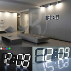 1XDigital LED Table Desk Night Wall Clock Alarm Watch 24/12 Hour Display Clock