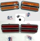 Set (4) 68-72 Chevy Truck Red & Amber LED Side Marker Lights Turn Signal Flasher
