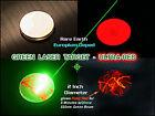Blue + Green Laser Target 2 Inch/50mm Diameter - Glows Bright Red when struck