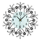 13.39 Inch 3D Wall Clock Diamond Jewellery Modern Silver Silent Movement For
