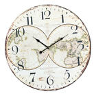 58cm Wall Clock Extra Large Compressed Wooden Retro Wall Clock Lacquer Surface
