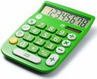 Office+Style 8 Digit Dual Powered Desktop Calculator, LCD Display, Green