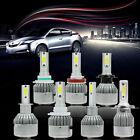 H1 H3 H4 H7 H11 9005/6/7 900W SUNWOIF COB Led Car Headlight Kit 6000K White Bulb