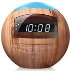 8-in-1 Bluetooth Alarm Clock Radio (Digital) Dual USB Charging Ports,FM Stereo,
