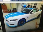 2016 Ford Mustang  2016 Ford Mustang Richard Petty Garage Supercharged White Blue 1 Of 5 Made Rare!